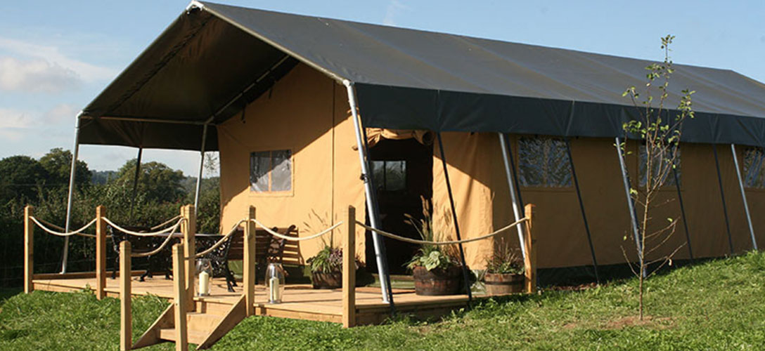 woody safari tent lounge