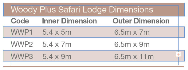Woody Safari Tent Dimensions
