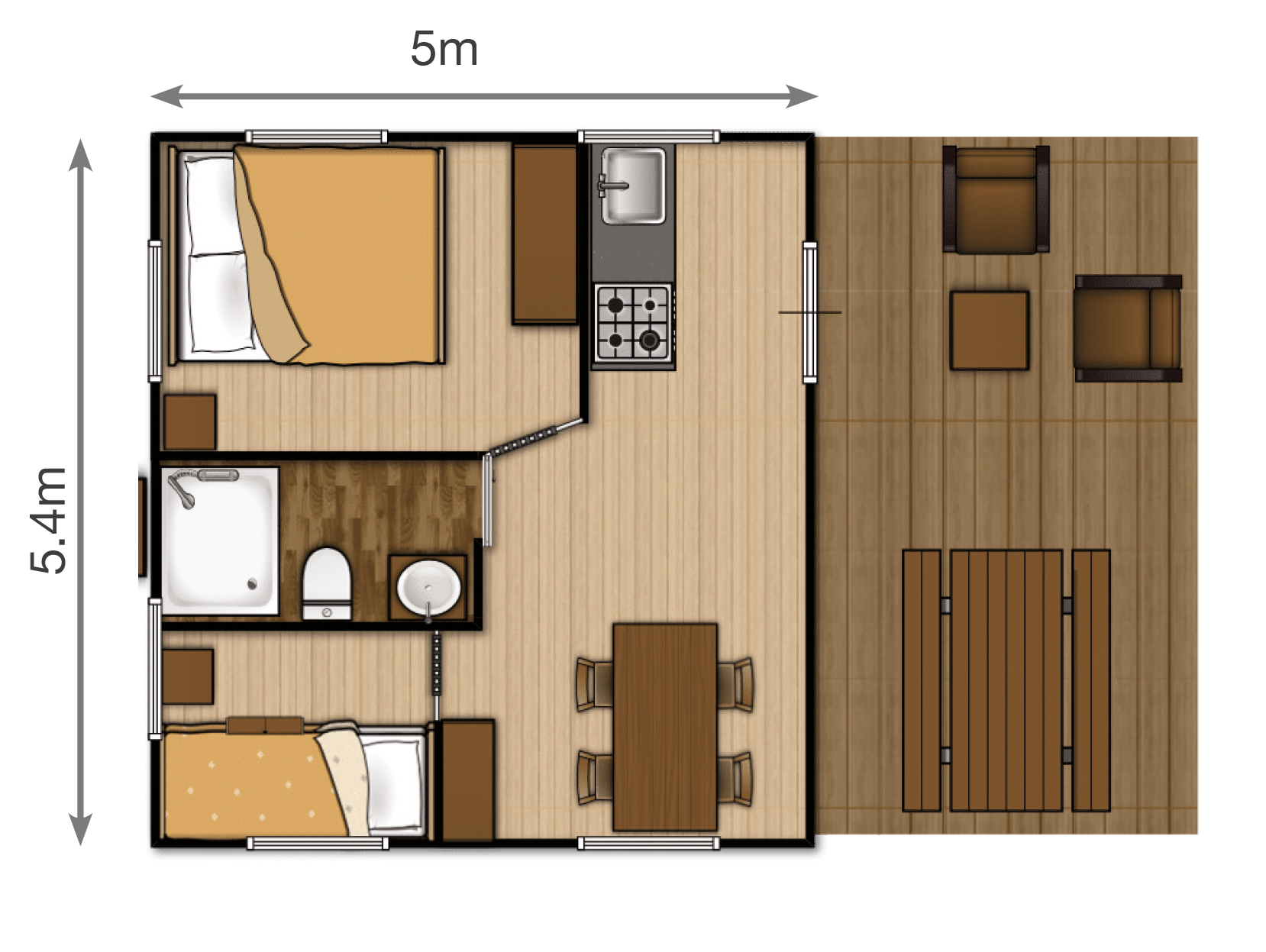 Woody safari tent floorplan