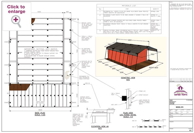 Steel Safari Tent Base Plan