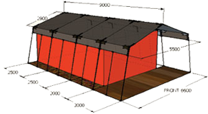 Steel Safari Tent CAD Model