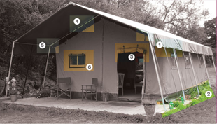 Steel Safari Tent Specifications